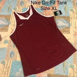 Nike Dri-Fit Maroon Athletic Tank Top Size XL